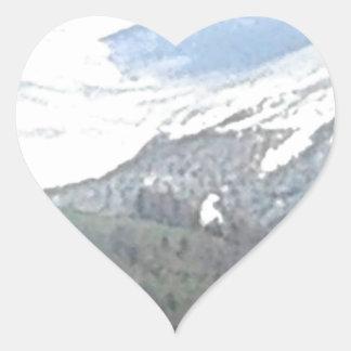 AUSTRIA MOUNTAINS 2 HEART STICKER