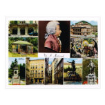 Austria, Mozart, lugares ligó a Mozart Tarjetas Postales