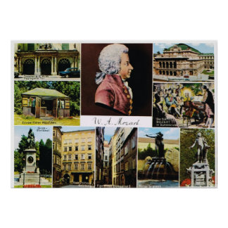 Austria, Mozart, places linked to Mozart Poster