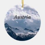 Austria Double-Sided Ceramic Round Christmas Ornament