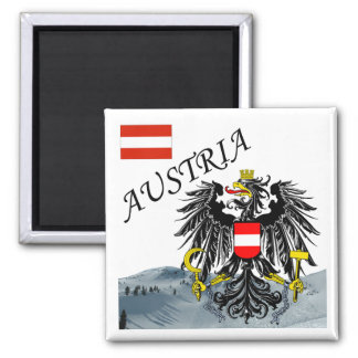 Austria - Osterreich 2 Inch Square Magnet
