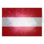 Austria; Österreich Flagge Tarjeta