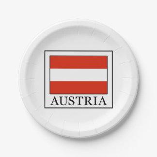 Austria Paper Plate