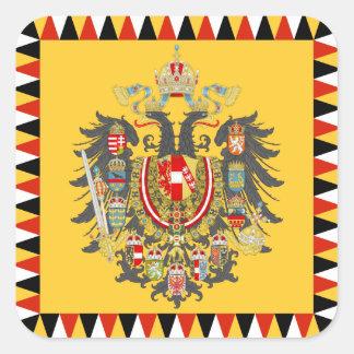 Austria Calcomanías Cuadradass Personalizadas