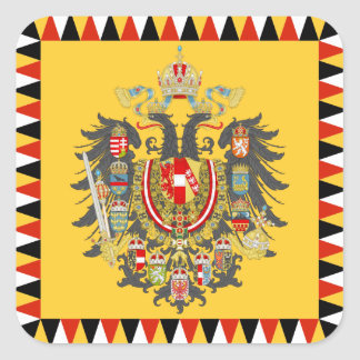 Austria Pegatina Cuadrada