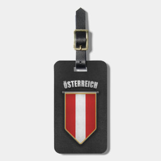 Austria Pennant with high quality leather look Bag Tag