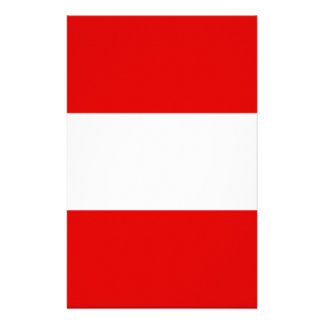 Austria-red,white,red Stationery