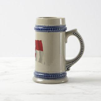 Austria & Salzburg Waving Flags 18 Oz Beer Stein