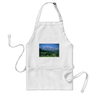 Austria Snow Capped Mountains Green Countryside Adult Apron