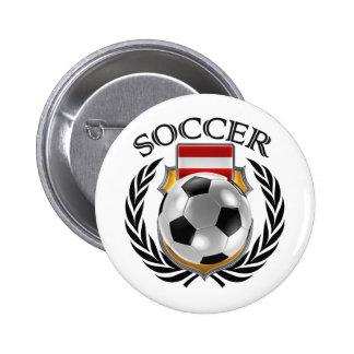 Austria Soccer 2016 Fan Gear Pinback Button