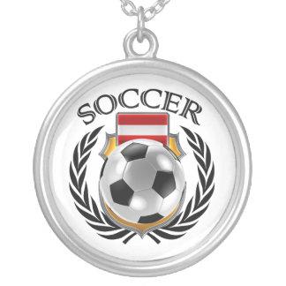 Austria Soccer 2016 Fan Gear Silver Plated Necklace