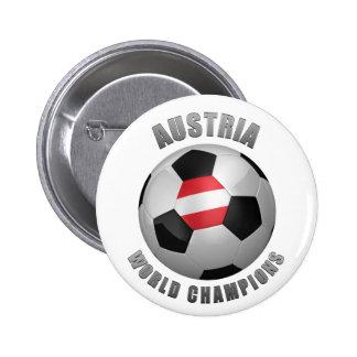 AUSTRIA SOCCER CHAMPIONS PINBACK BUTTONS