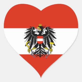 Austria State Flag Heart Sticker
