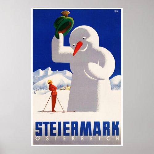 Austria Steiermark Vintage Travel Poster Restored