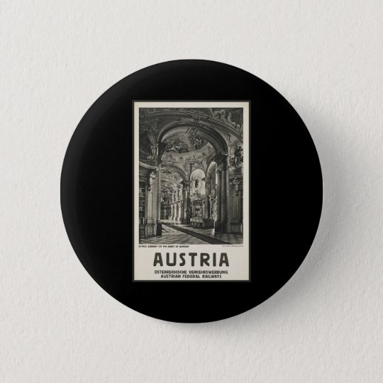 Austria Styria Library of the Abbey of Admont Pinback Button