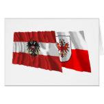 Austria & Tirol Waving Flags Greeting Card