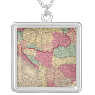 Austria Turkey In Europe and Greece Silver Plated Necklace