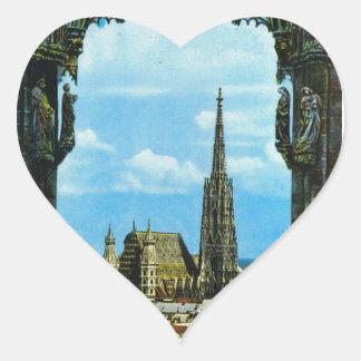 Austria, Vienna, St Stephen's Cathedral Heart Sticker