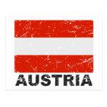 Austria Vintage Flag Postcard
