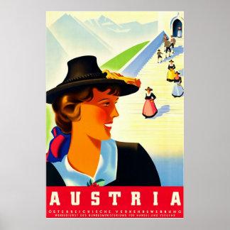 Austria ~Vintage Travel Poster