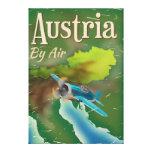 Austria vintage travel poster canvas print