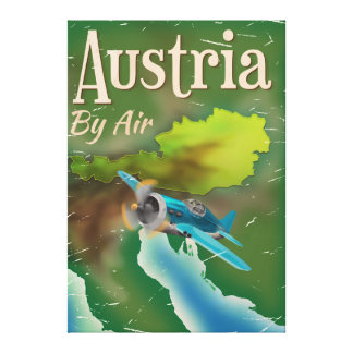 Austria vintage travel poster canvas print