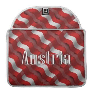 Austria Waving Flag Sleeve For MacBooks