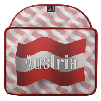 Austria Waving Flag Sleeves For MacBook Pro