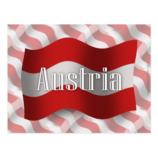 Austria Waving Flag Postcard