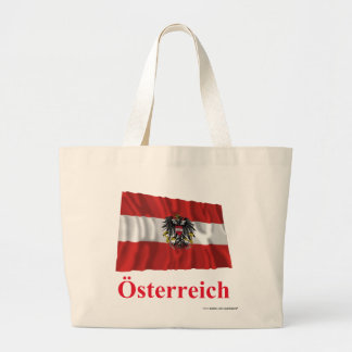 Austria Waving Flag with Name in German Canvas Bag