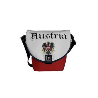 Austria y escudo de armas bolsa messenger