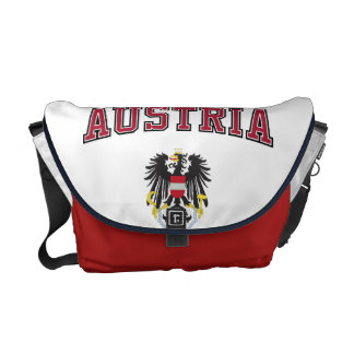 Austria y escudo de armas bolsas de mensajeria