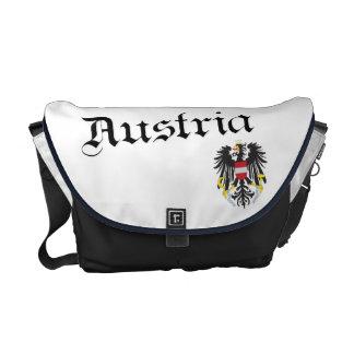 Austria y escudo de armas bolsas de mensajería