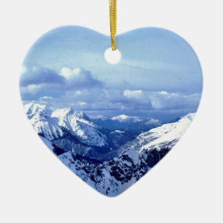 Austrian Alps Ceramic Ornament