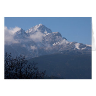 """Austrian Alps"" custom greetings cards"