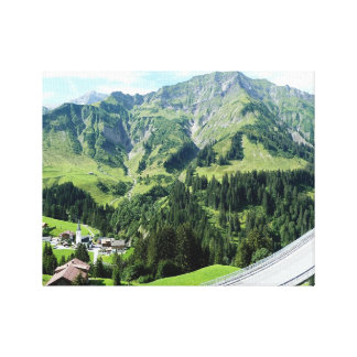 Austrian Alps Small Canvas Print