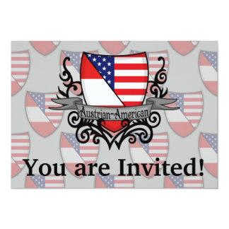Austrian-American Shield Flag Card