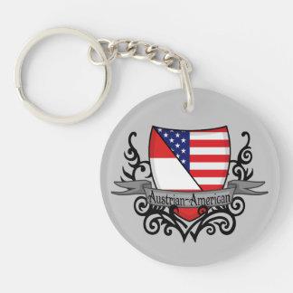 Austrian-American Shield Flag Keychain