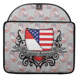 Austrian-American Shield Flag Sleeves For MacBooks