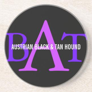 Austrian Black and Tan Hound Monogram Coaster