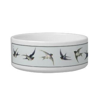 Austrian Blue Birds Bowl Cat Bowl