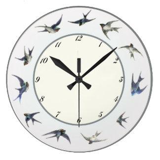 Austrian Blue Birds Wall Clocks