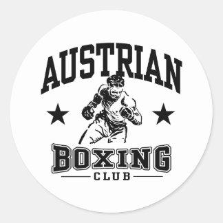 Austrian Boxing Classic Round Sticker