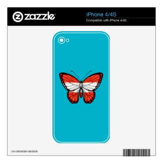 Austrian Butterfly Flag iPhone 4S Skin