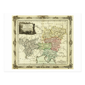 Austrian Circle of the Holy Roman Empire Map Postcard