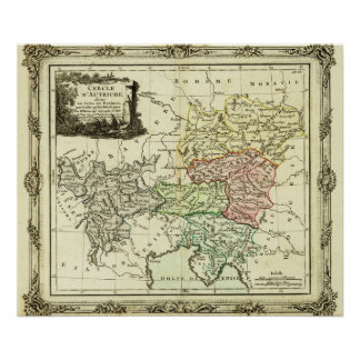 Austrian Circle of the Holy Roman Empire Map Poster