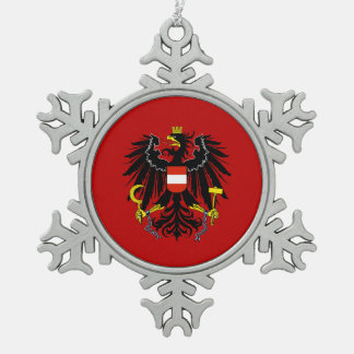Austrian coat of arms snowflake pewter christmas ornament