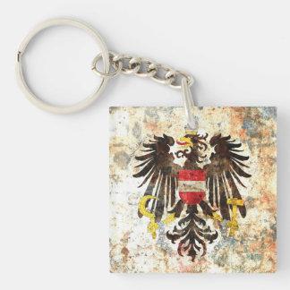 Austrian Crest Square Acrylic Key Chain