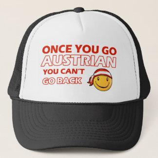 Austrian designs trucker hat