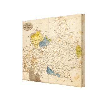 Austrian Dominions Map by Arrowsmith Canvas Print
